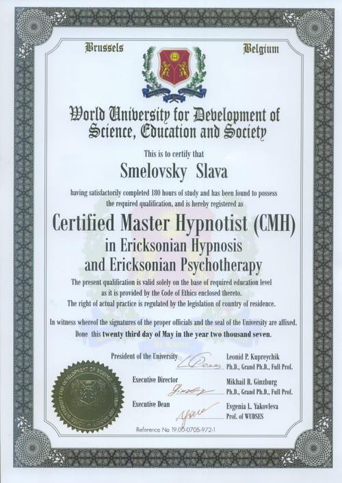 ginzburg - Сертификат от Wudses