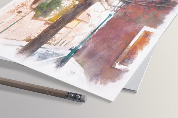 "watercolor paper detail novyy razmer - Колода Метафорических Карт""Место Покоя"""